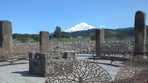 Mt. Adams behind the Stone Circle